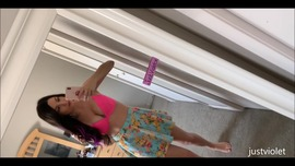 Popsicle Dildo Fucking outdoor on my balcony  - clip cover-front